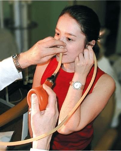 Продувание слуховой трубы