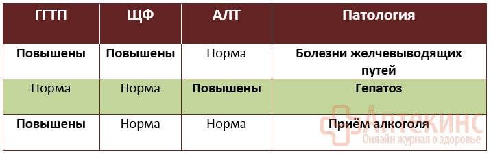Анализ на ГГТП - расшифровка